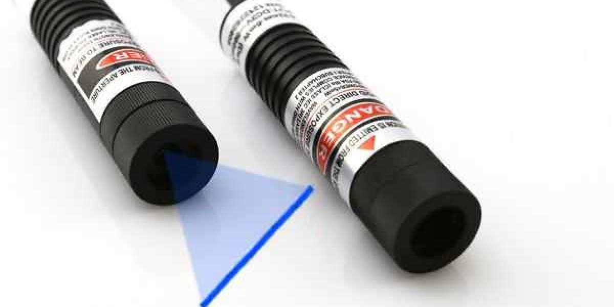 Wide Fan Angles Berlinlasers 445nm Blue Line Laser Module